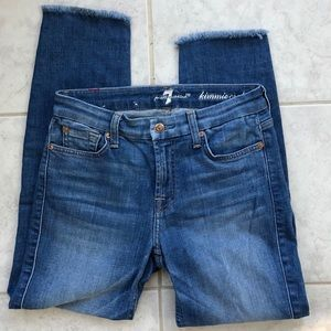7 for all Mankind Kimmie Crop Jeans Size 27